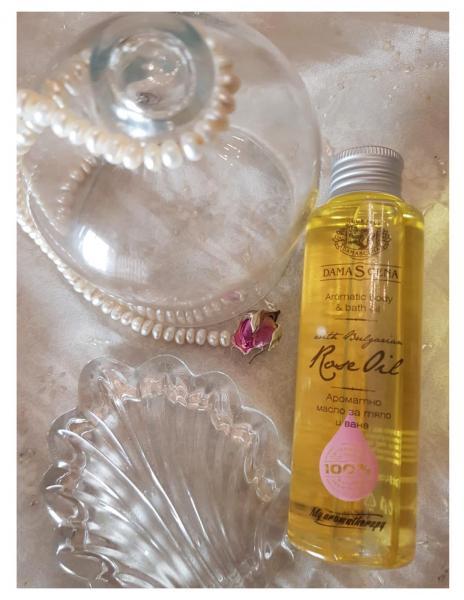 Olio alla Rosa Damascena  per il corpo- Aromaterapy