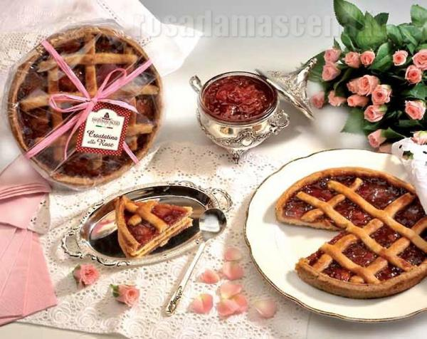 Artisanal Tart with rose Damasc jam 280g